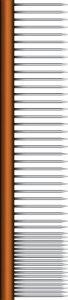 Wahl Professional Animal 20,3cm Peigne de finition en métal # 858420