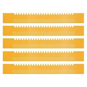 Lot de 5VOL trous–Trou Réducteur d'abeille. abeilles apiculteurs besoins plastique jaune. Fabrication allemande