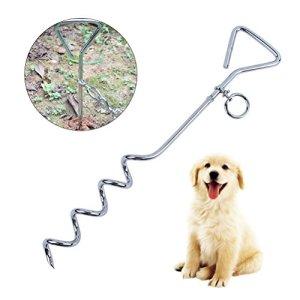 UEETEK Piquet d'Attache pour chien Laisse d'Attache avec Ancrage Spirale pour Camping,Cour,de plein air