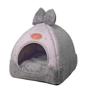 TianBin Fermé Pliable Nid d'animal Automne et Hiver Chaud Chat Maison La Mode Lit de Chien (Gris#2, M)