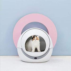 D&D Boîte à litière Automatique Toilette pour Chat Intelligent Rotation par Induction Nettoyage Chat Sable de Chat Déodorant électrique