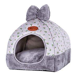 TianBin Fermé Pliable Nid d'animal Automne et Hiver Chaud Chat Maison La Mode Lit de Chien (Gris#1, M)