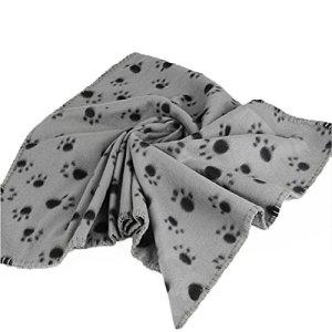 71,1 x 99,1 cm Hiver Super Doux et chaud Chien Chat Polaire couvertures Tapis Pad Housse de matelas avec empreintes de pattes doux pour Chatons chiots et autres petits animaux Couverture de couchage