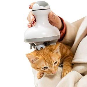 PSATO Masseur Électrique pour Chien Chat Appareil De Massage Automatique pour Animaux De Compagnie Outil De Pétrissage 3D Rotation À 360 ° De La Griffe De Dragon