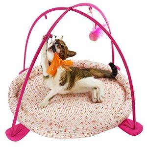 FFSH Hamac Chat Jouet Chat Chat hamac Jouet Exercice ludique lit-Pink