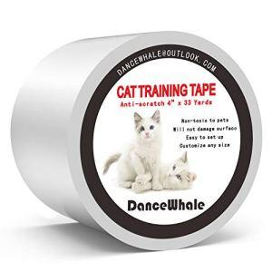 DanceWhale Ruban adhésif Anti-Rayures pour Dressage de Chat, 10cm x 30 m Transparent Double Face Anti-Rayures – Protection de Meubles pour canapé, Tapis, Portes, comptoirs