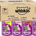 Whiskas Senior7+ – Sachets Fraîcheur pour Chat Senior (Stérilisé Ou Non), Sélection Mixte en Gelée, 84 Sachets Repas de 100g