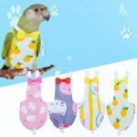 Balacoo 2 Pcs Oiseau Couche Réutilisable Lavable Perroquet Couches Vêtements Combinaison De Vol Robe pour Perruche Calopsitte Ara Africain (M Aléatoire Style)