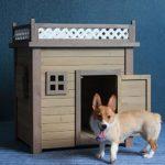 Animalerie Pet Dog House Cat House Niche Usage extérieur Usage intérieur Pet Abri for Les Chiots et Les Chiens Château Chat (Couleur : Natural, Taille : 75x100x100cm)
