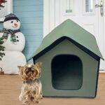 Maison extérieure pour animaux de compagnie, abri pour animaux de compagnie pliable étanche aux intempéries pour chat pour petits chiens et chats de taille moyenne