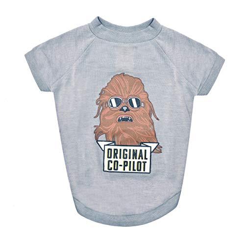 Star Wars Chewbacca Original T-Shirt pour Chien Co-Pilot Star Wars pour Chiens de Taille Moyenne