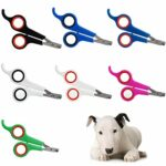 CAACXV 3 Pcs Pet Dog Nail Clippers Claw Supplies Chats Nails Clipper Trimmer Pet Nail Claw Toilettage Ciseaux-Rose et Rouge, S 3PCS