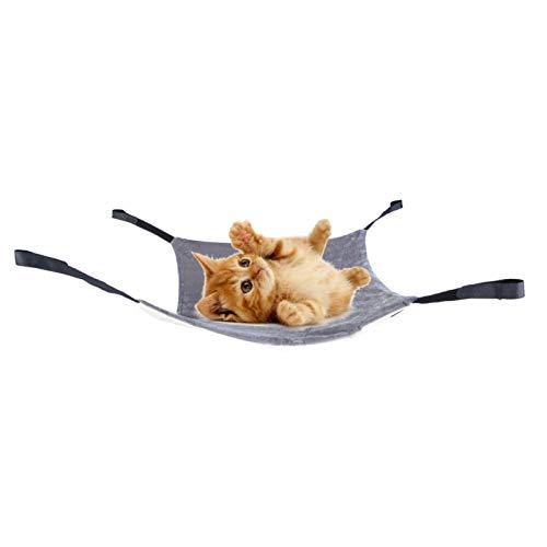 Cosiki Lit Suspendu pour Chat, avec Crochet et Boucle 3 Couleurs Facile à Installer Lit Suspendu pour(Beige+Grey, S)