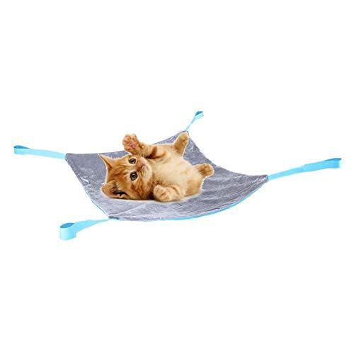 Cosiki Lit Suspendu pour Chat, avec Crochet et Boucle 3 Couleurs Facile à Installer Lit Suspendu pour(Lake Blue + Gray, S)
