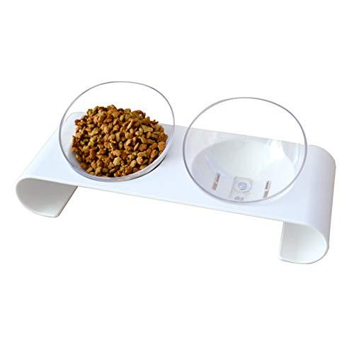 DaMohony Gamelle inclinée transparente à 15 degrés avec base pour chat
