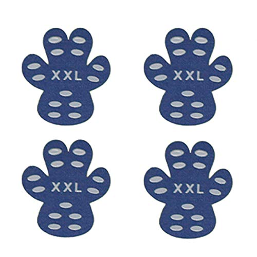 Haokaini 4 Pièces Protecteur de Patte de Chien Tapis de Traction Antidérapants Robustes Autocollants de Patte de Chien Imperméables Auto-Adhésifs pour Chaussures de Chien de Marche en