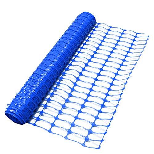 True Products B1005F 4kg 50m Standard Plastique Bleu Barrière de filet en treillis de rouleau–Bleu