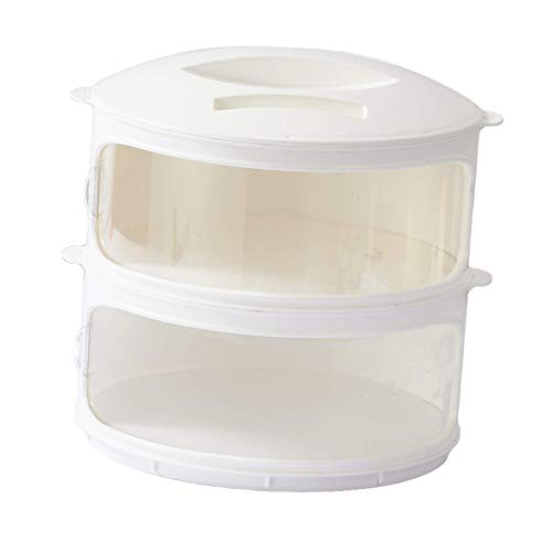 Tubayia Boîte de conservation empilable pour réfrigérateur (2 animaux)