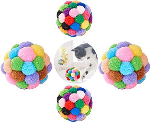 Yangfei 6pcs Balles De Jouets pour Chats, Chat Balles Colorées Balle en Peluche Chat Coloré Animal en Peluche Balle Balles pour Animaux De Compagnie pour Chat Chaton Chien(7cm Et 5cm)