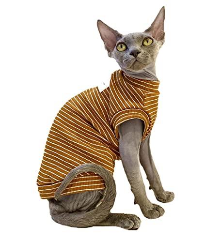ZHIHAN Vêtements de Chat Sphinx T-Shirt Fin, Gilet, Combinaison de climatisation, Couleur 1, L-