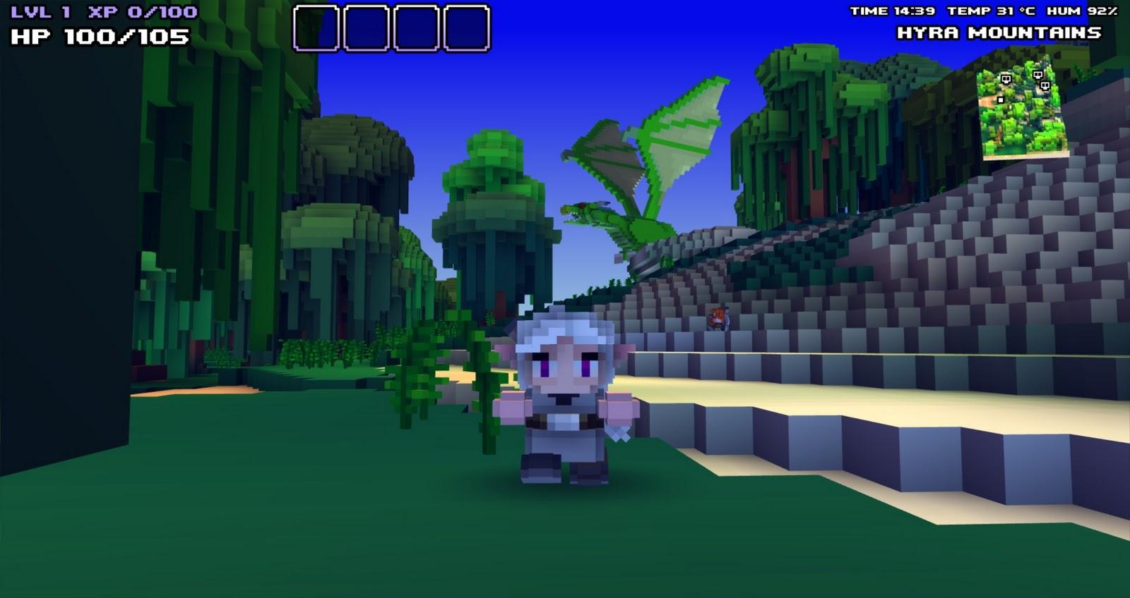 Cube World Fond D Ecran Jeux Video Info