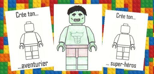 Activité d'anniversaire Lego - personnalisation des personnages Lego