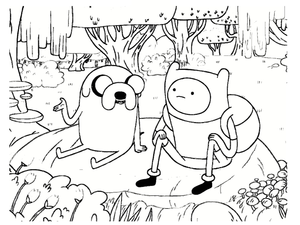 Coloriage Adventure Time : 20 dessins à imprimer