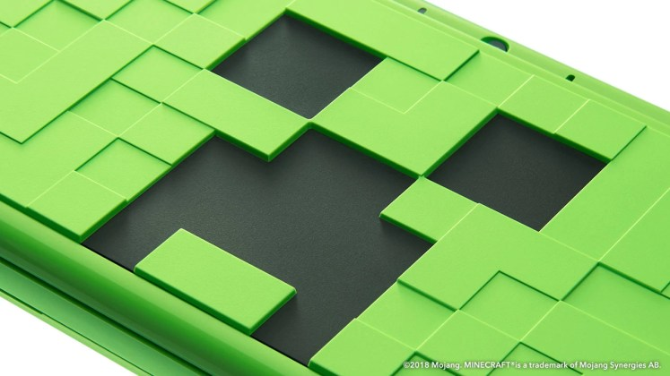 New 2DS XL Minecraft Creeper Edition, jeuxvideo24