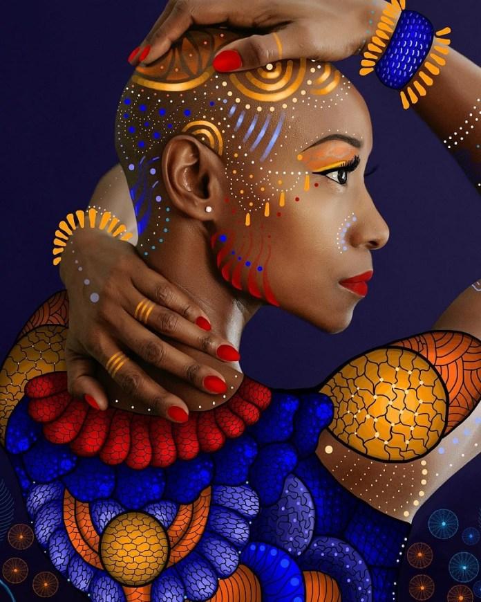 Découvrez les œuvres de Gelila Mesfin, l'artiste éthiopienne qui transforme les stars afro-américaines