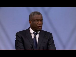Vidéo : Le discours poignant du Dr. Denis Mukwege, prix nobel de la paix 2018
