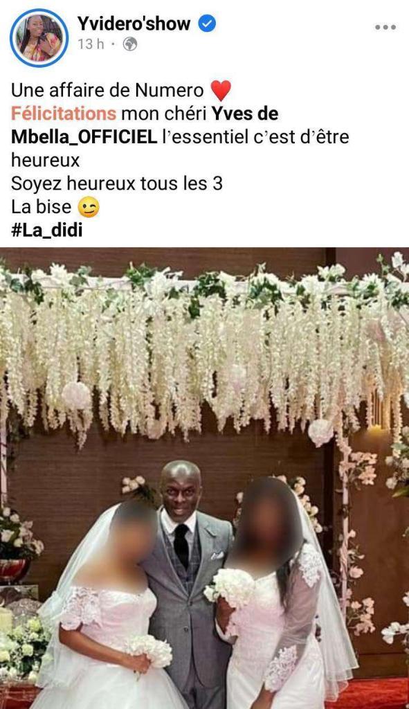 Yves De Mbella Épouse Deux Femmes En Même Temps