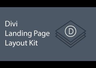 Gebruik de landingspagina lay-out kit voor Divi