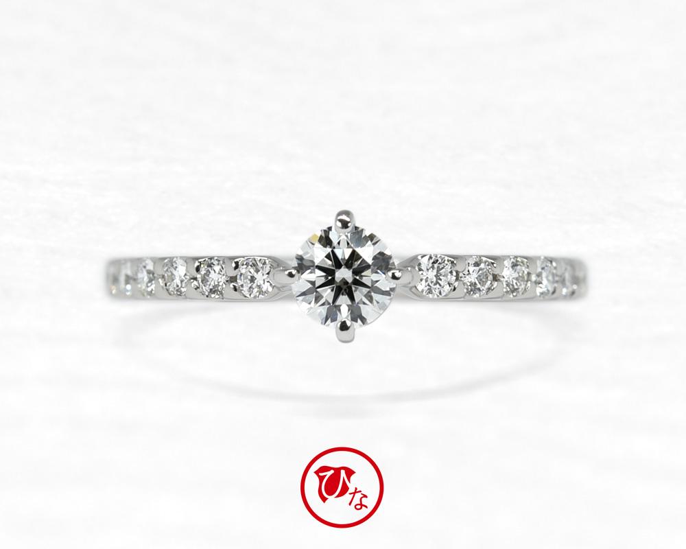 ひな婚約指輪八重桜