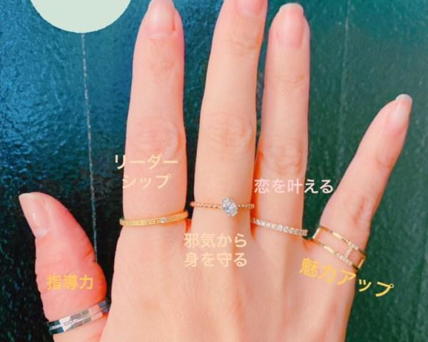 指輪の意味は着ける指によって変わるらしい。