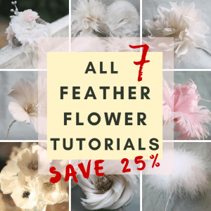 All 7 FEather Flower Tutorials