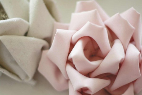 Learn to make fabric flowers | Mayumi Rose Fabric Flower Tutorial