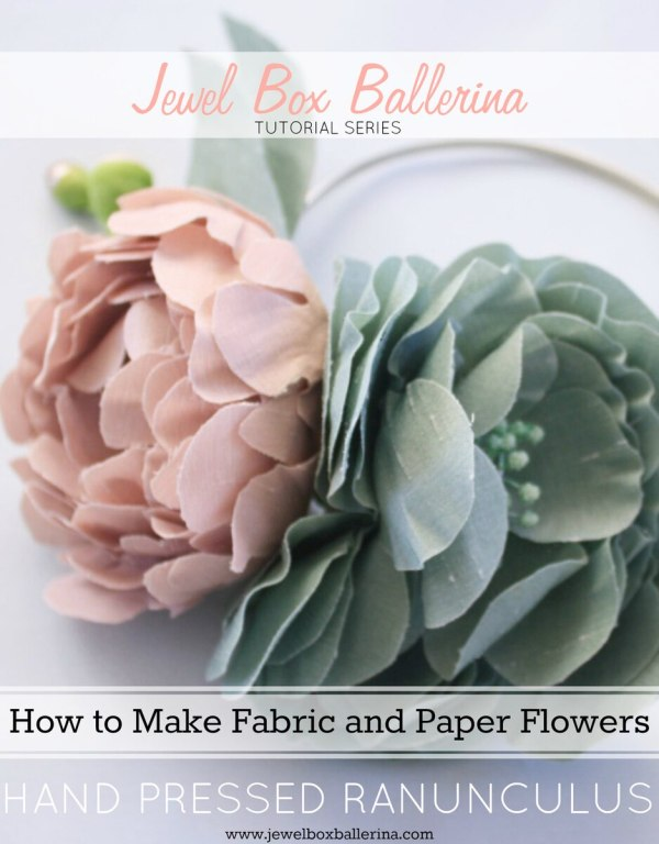 how to make paper flowers and fabric flowers tutorial