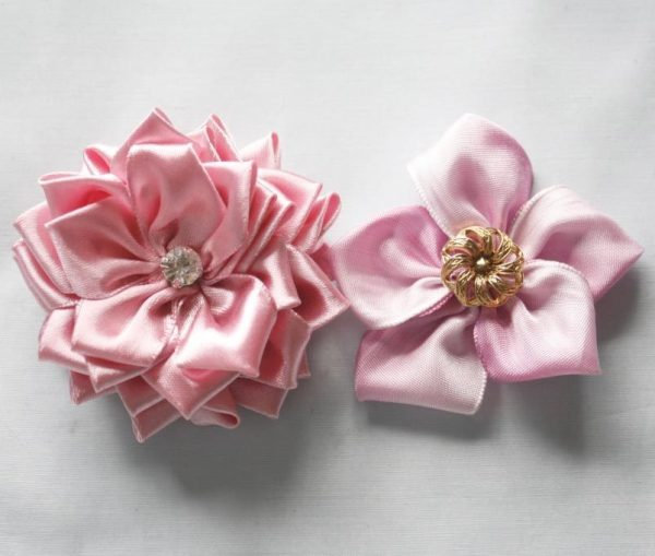 How to make fabric flowers and ribbon flowers | Sweet Blossom Tutorial