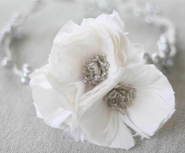 Feather Flower Tutorial | Feather Poppy used on making hair crown wreath