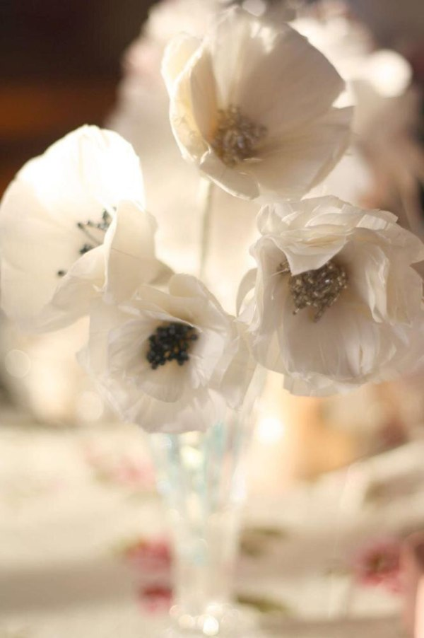 A vase of feather poppies DIY HOME DECOR