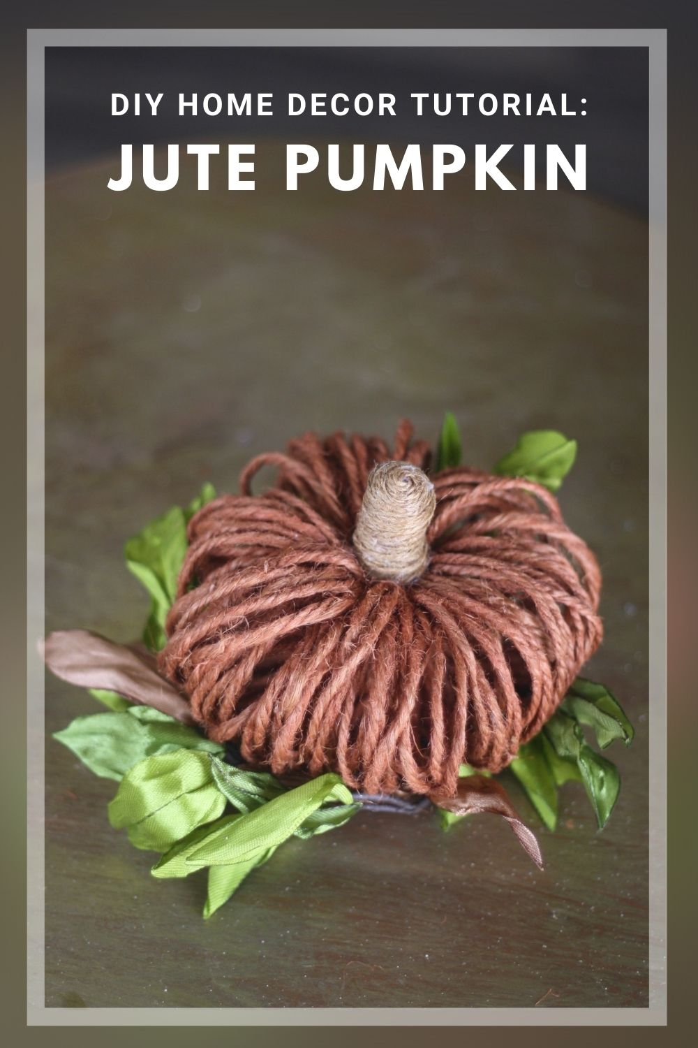 DIY Fall Crafts: How to Make Rustic Twine Pumpkins Using