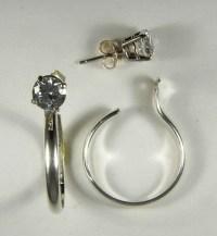 Sterling Silver Dangle Hoop Earring Jackets