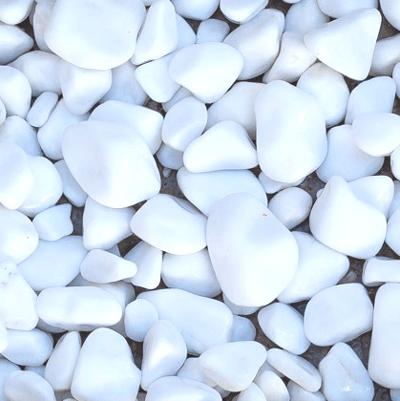 White Marble Pebbles Image