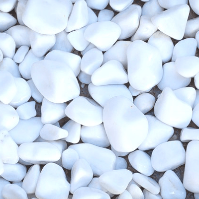 White Marble Pebbles Image