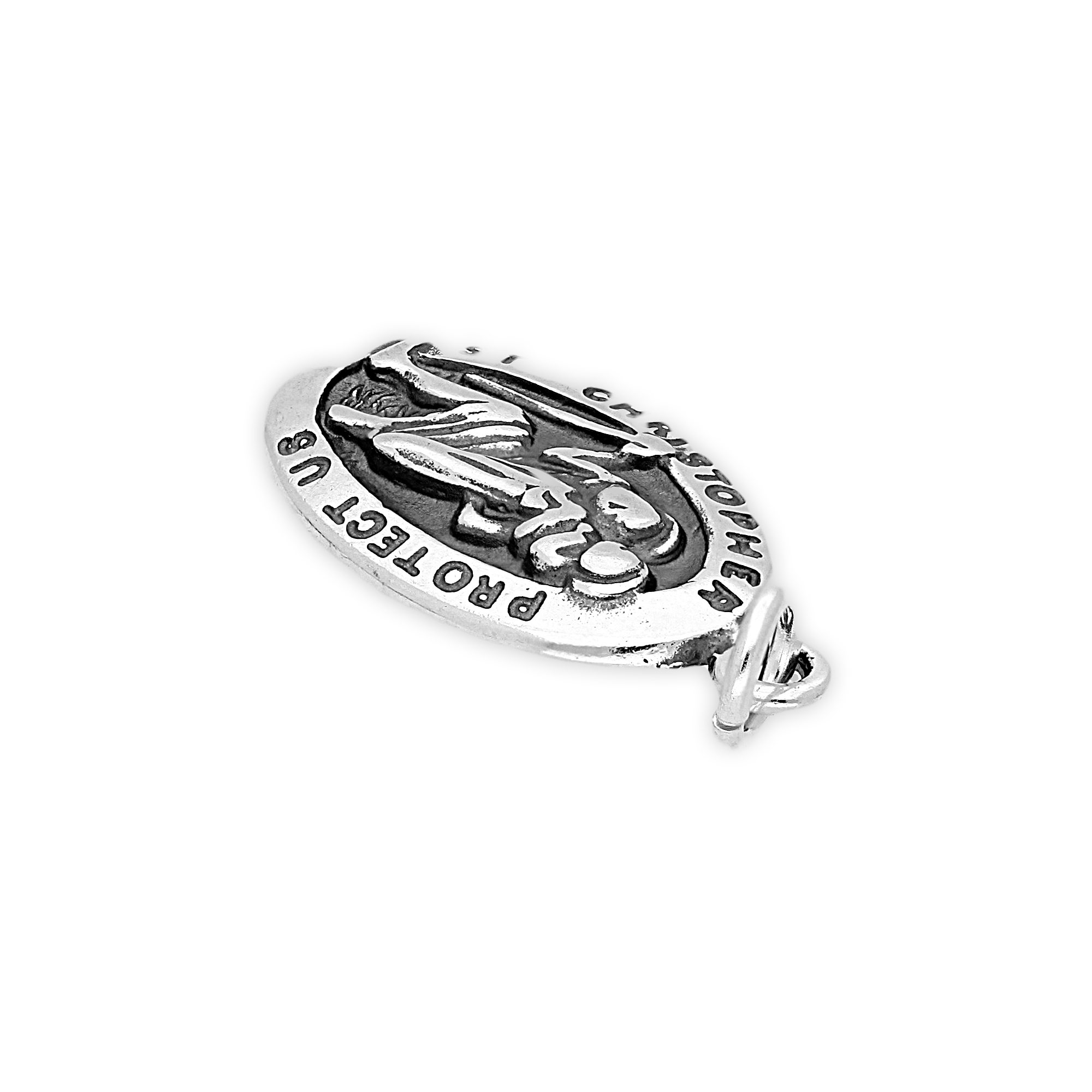 Thecharmworks 925 Sterling Silver St Christopher Charm