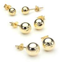 9ct Gold Plain Ball Stud Earrings 3mm - 6mm | eBay