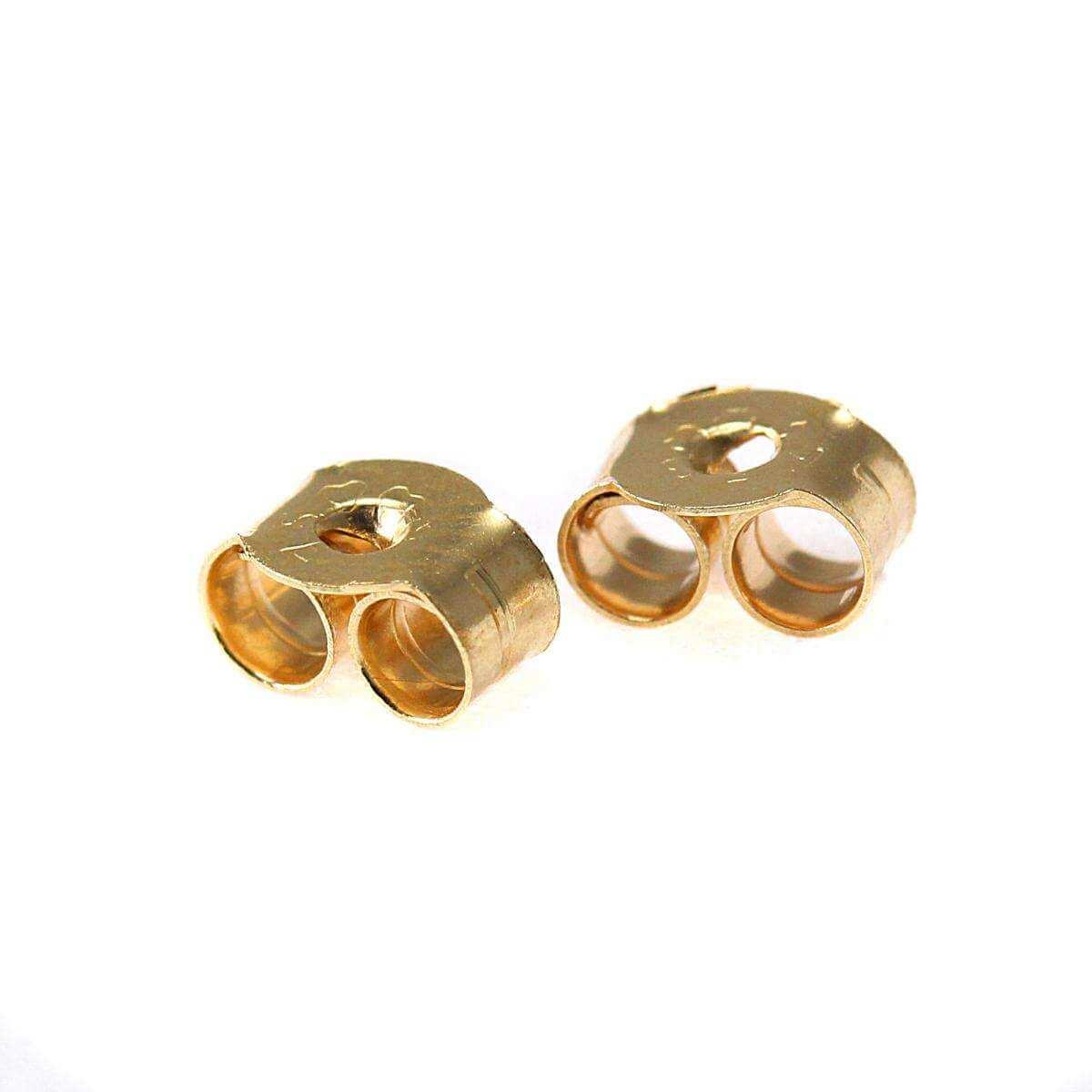 9ct Gold Butterfly Backs Scrolls for Stud Earrings 5mm
