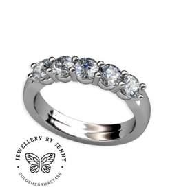 alliansring med diamanter