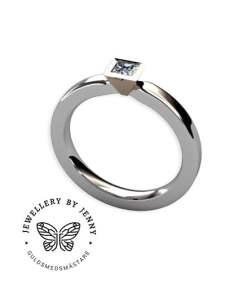 tvåfärgad diamantring