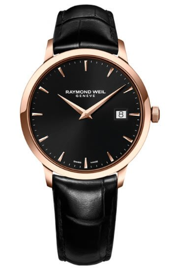 Watches For Spring/ Summer 16 - Raymond Weil Toccata Rose Men's Leather Strap Watch